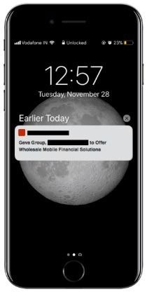 Access to intelligence through the client's sales enablement app