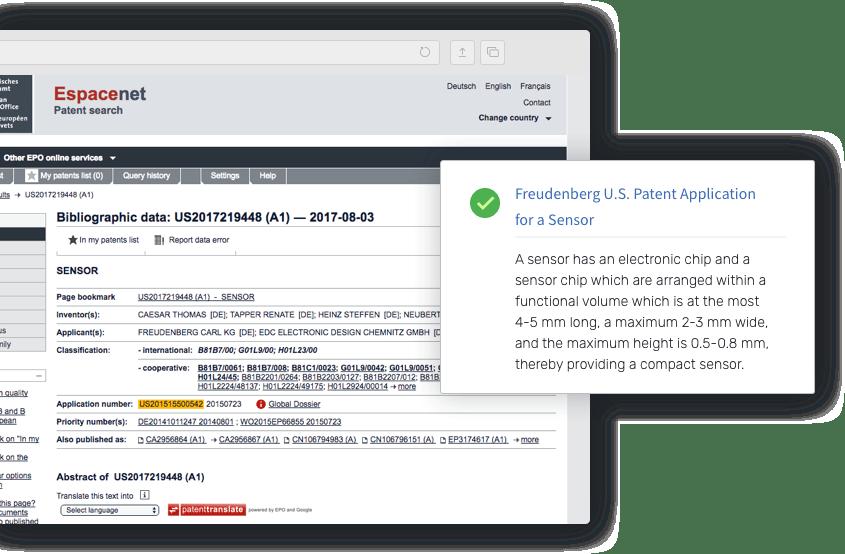 Custom processing of patent filings