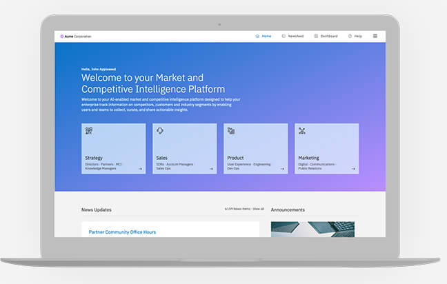 Centralized Competitive Intelligence Hub