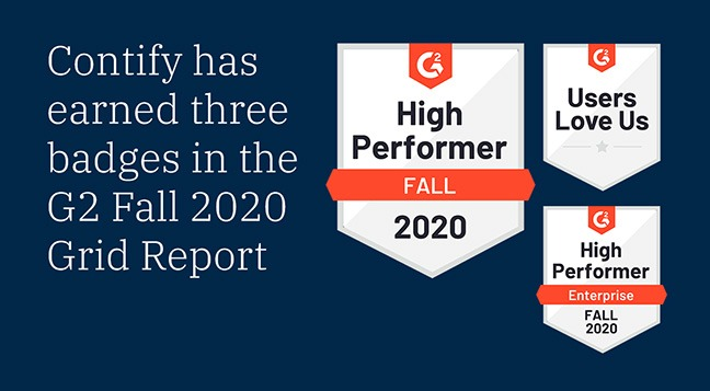 Contify Recognized As High Performer In Fall 2020 G2 Grid Report For Market Intelligence Software
